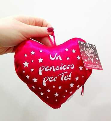 SAN VALENTINO CUORE PELUCHE CUSCINO messaggi d/'amore 35X27CM CIRCA 3 VARIANTI