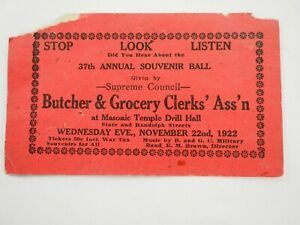 Carnicero-amp-Comestibles-Clerks-Ass-039-N-37th-Anual-Recuerdo-Bola-Chicago-Nov