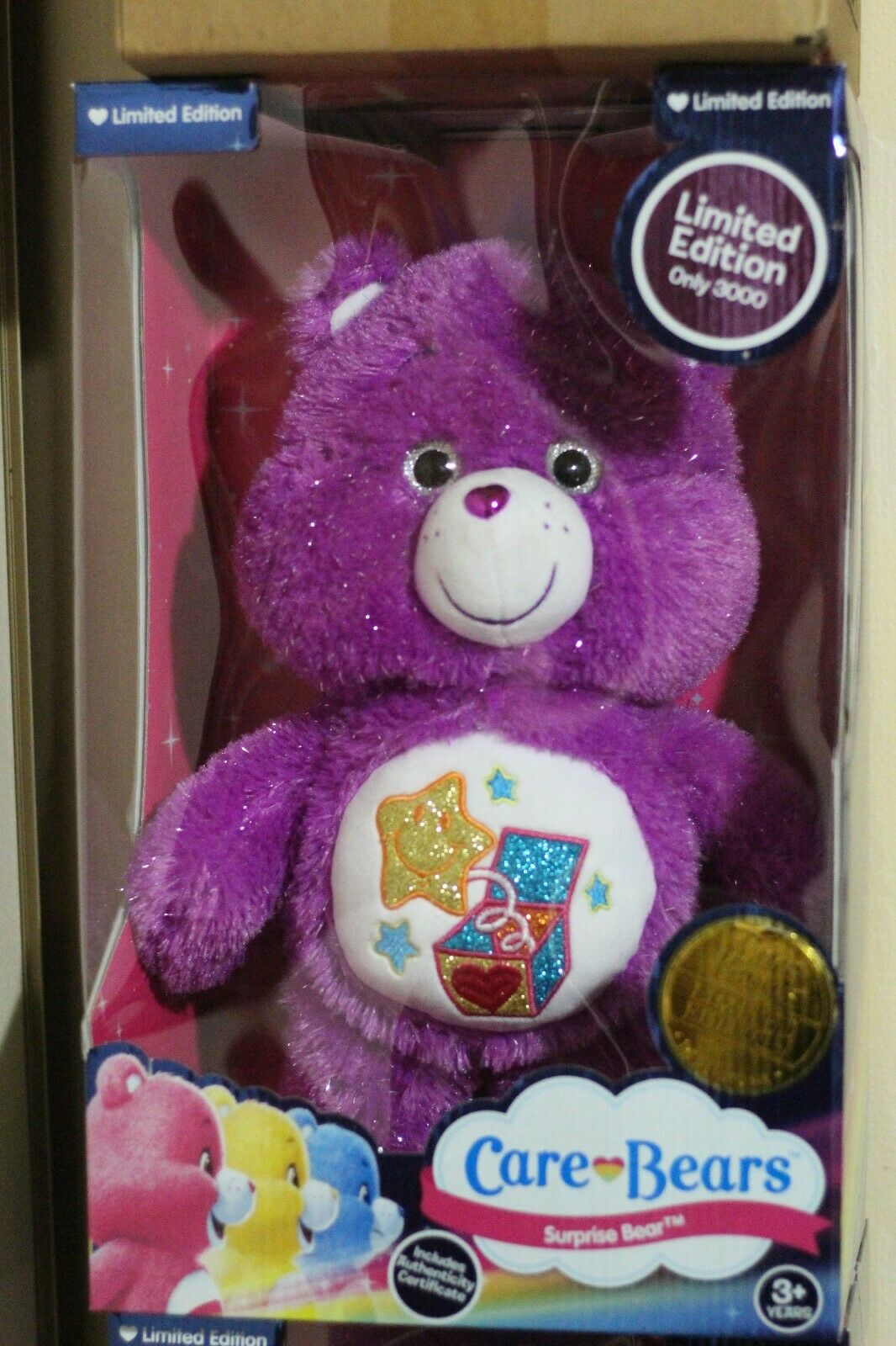 Care bears Limited Edition 2019 Surprise glitter bear No79 of 3000 MIB