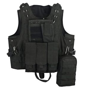 Quick-Release-Molle-Airsoft-Vest-Assault-Mag-Plate-Carrier-Hunting-Tactical-Vest