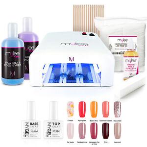 Mylee MYGEL Kit UV Nail Dryer Lamp Soak-Off Gel Polish Colours Full Gift Set
