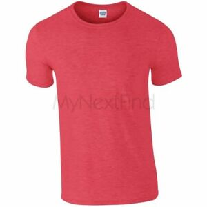 Gildan-Hommes-Femmes-Softstyle-Ringspun-100-Coton-Uni-Blanc-Tee-T-Shirt