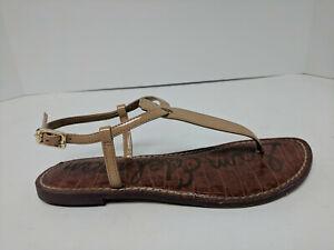Sam Edelman Gigi Flat Sandals, Almond, Womens 6.5 M