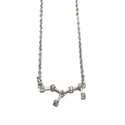 Fashion Women Jewelry Crystal Zodiac Constellation Necklace Horoscope Astrology