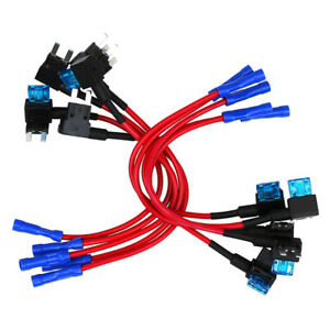 10-Pack-12V-Car-Add-a-circuit-Fuse-TAP-Adapter-Mini-ATM-APM-Blade-Fuse-Holder-S9