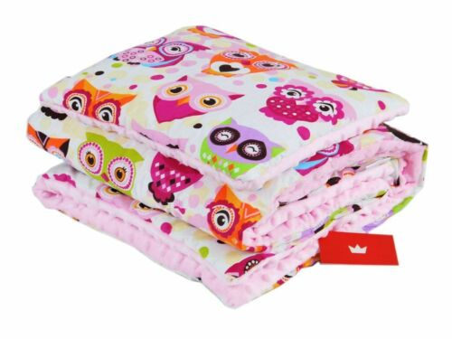 FILLED MINKY BLANKET /& PILLOW SET 100x75cm XL //PRAM //PLAYMAT// REVERSIBLE