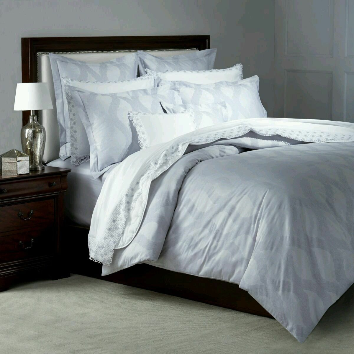 NWT NEW Yves Delorme Ondine Perle King flat sheet 106x116