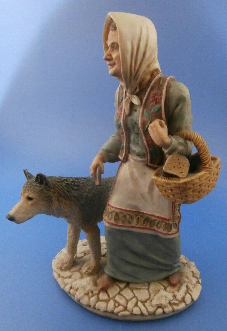 Limitierte CASTAGNA CASTAGNA CASTAGNA Weihnachtsfigur  Baboushka  mit Wolf; 21 cm aa77d0