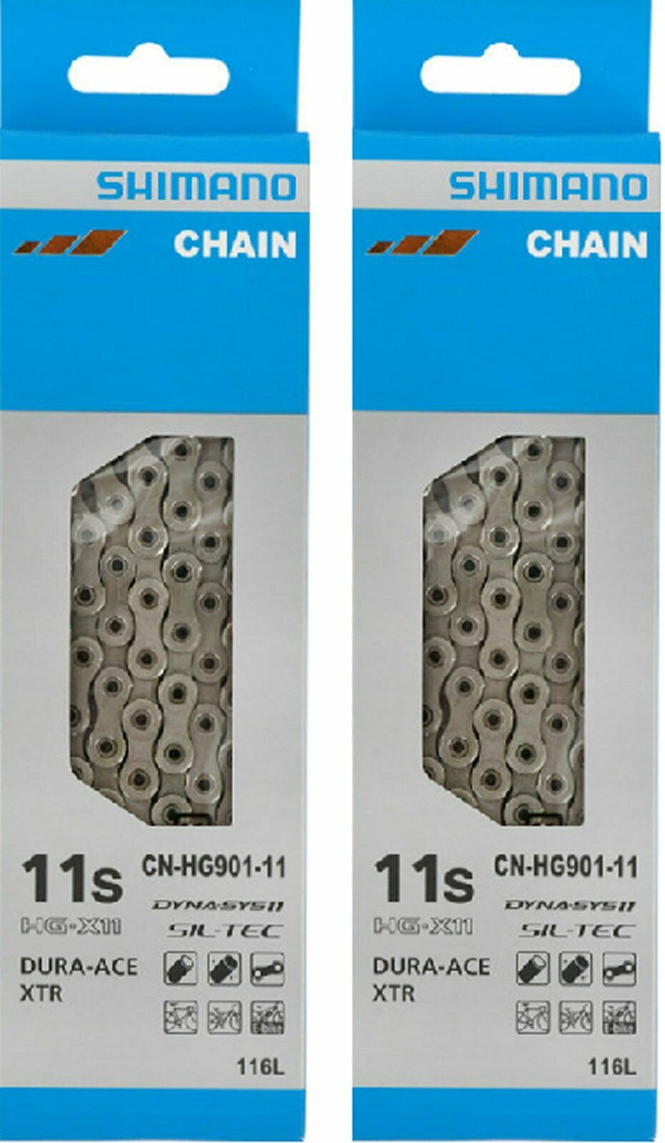 Dura Ace chain CN HG 901   11 speed chain in box (2 chains)