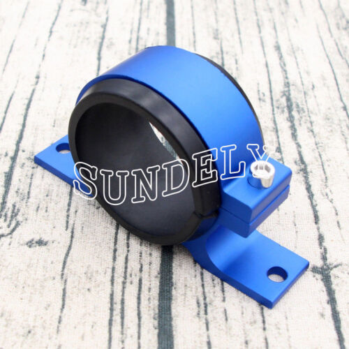 Alloy 60mm External Fuel Pump Filter Mounting Bracket Clamp Cradle Holder Blue