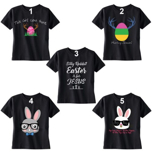 Kid/'s Easter T-shirt Bunny Rabbit Egg Hunt Jesus Shirt Peep Spring Toddler Youth