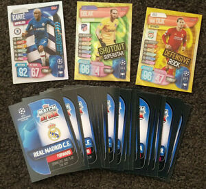 2020-Match-Attax-Extra-UEFA-Champions-Soccer-Cards-Lot-of-20-Cards-inc-3-Shiny