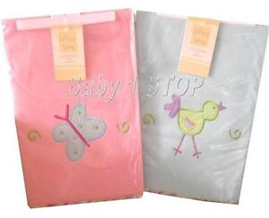 Lollipop-Lane-Emboidered-Fleece-Pram-Crib-Blanket-Choice-Pink-or-Blue-70x90cm