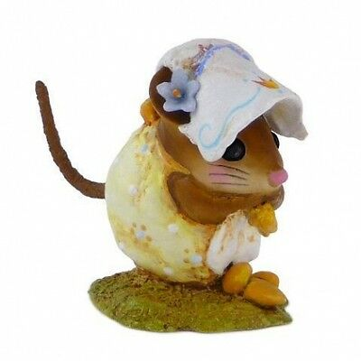 Wee Forest Folk NM-1b Spring Nibble Mouse - Yellow