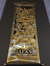 Pennant Hanging Scroll JAPAN Gold Leaf Dragon Tiger Ryu Kinpaku 840 × 290 mm