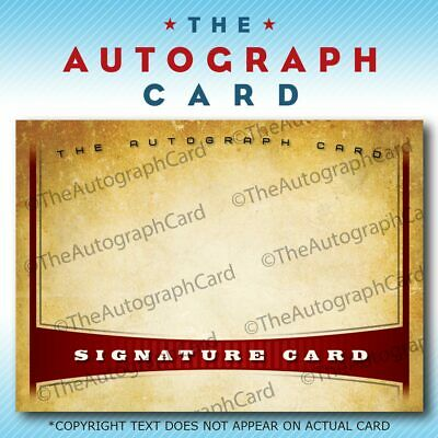 The Autograph Card Blank Signature Card MOVIE STAR signed auto theautographcard