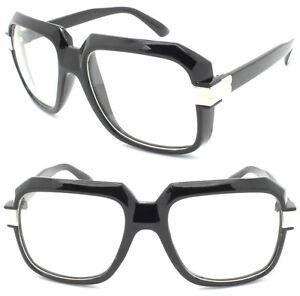 e3ebf32ffbe1 Men's Vintage Clear Lens Bold Frame Glasses RUN DMC Hip Hop Thick ...