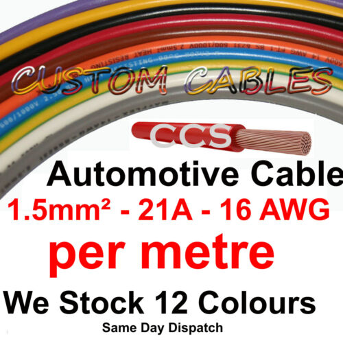 21A AUTOMOTIVE test 21 AMP CAR WIRING LOOM WIRE 1m Red AUTO CABLE