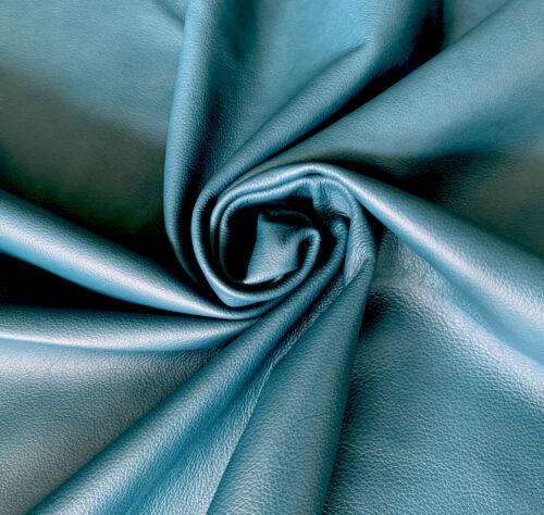 Leder Rindnappaleder Stücke Zuschnitte Petroleum Blaugrün verschiedene Größen