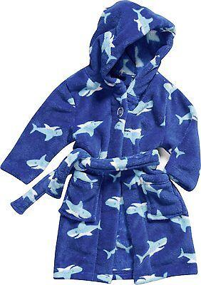 Kinder Bademantel Neu Haifisch Gr 74-152  Playshoes Ökotex 100 Fleece Polyester