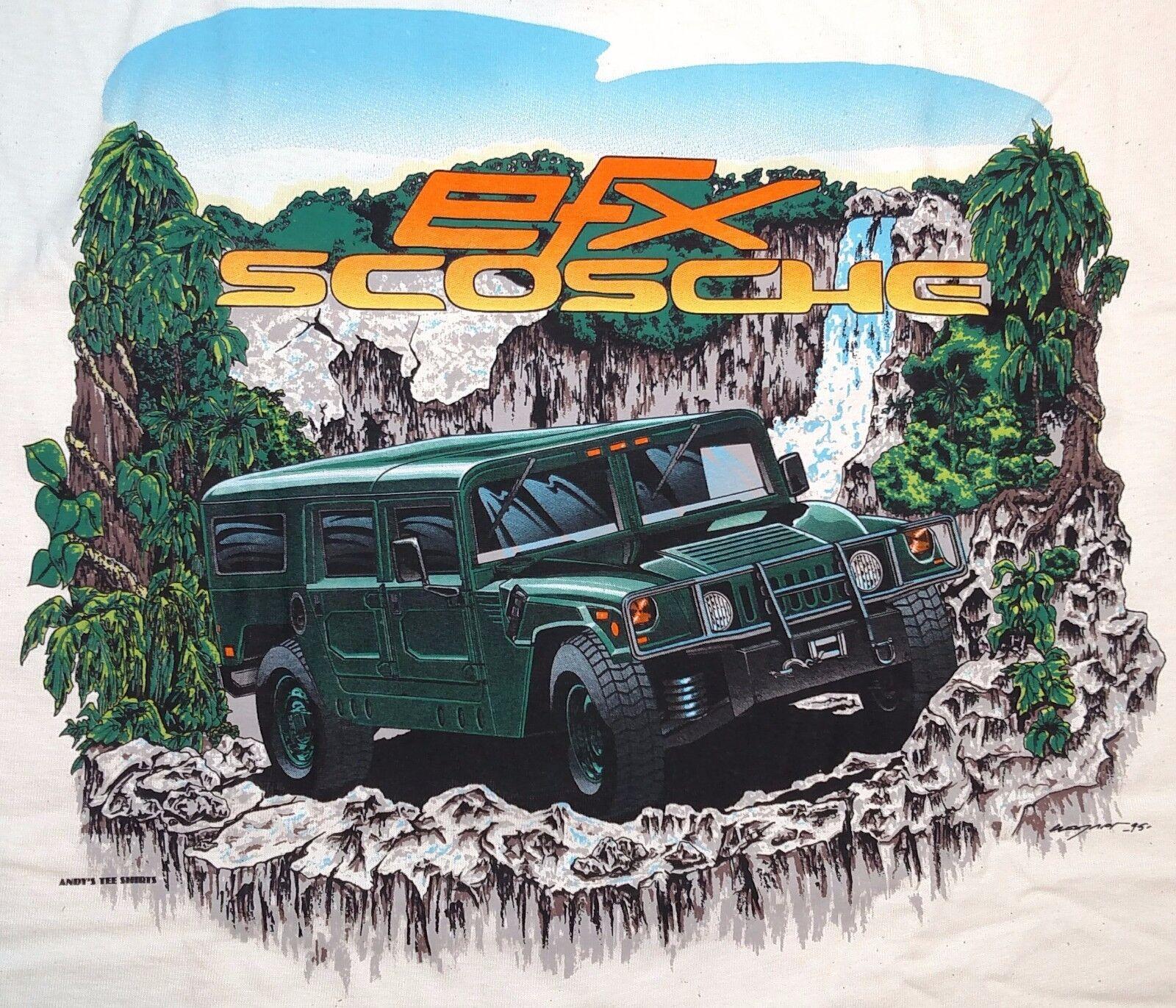 VTG 1995 Andy's Tee Shirts EFX Scosche Car Audio Hummer H1 T-Shirt XXL NWOT
