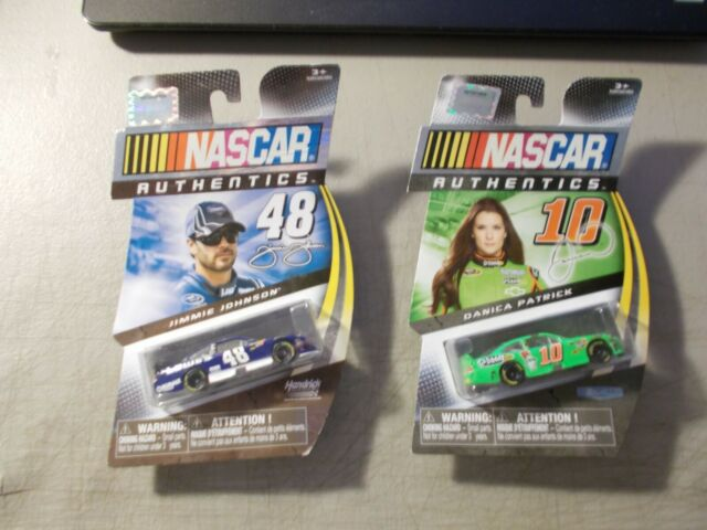 LOT OF 2 2012 NASCAR AUTHENTICS SPIN MASTER CARS 1:64 #10 PATRICK /& #48 JOHNSON