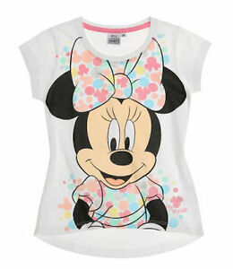5efe3ad40e7e Disney Minnie Girls Short Sleeve T-Shirt white/fuchsia/ turquoise | eBay