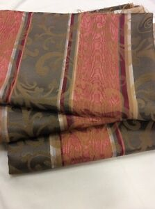 BUNDLE 672m Olive Green Salmon Pink Brocade Stripe Fabric FREE POSTAGE - <span itemprop=availableAtOrFrom>Haverfordwest, United Kingdom</span> - BUNDLE 672m Olive Green Salmon Pink Brocade Stripe Fabric FREE POSTAGE - Haverfordwest, United Kingdom