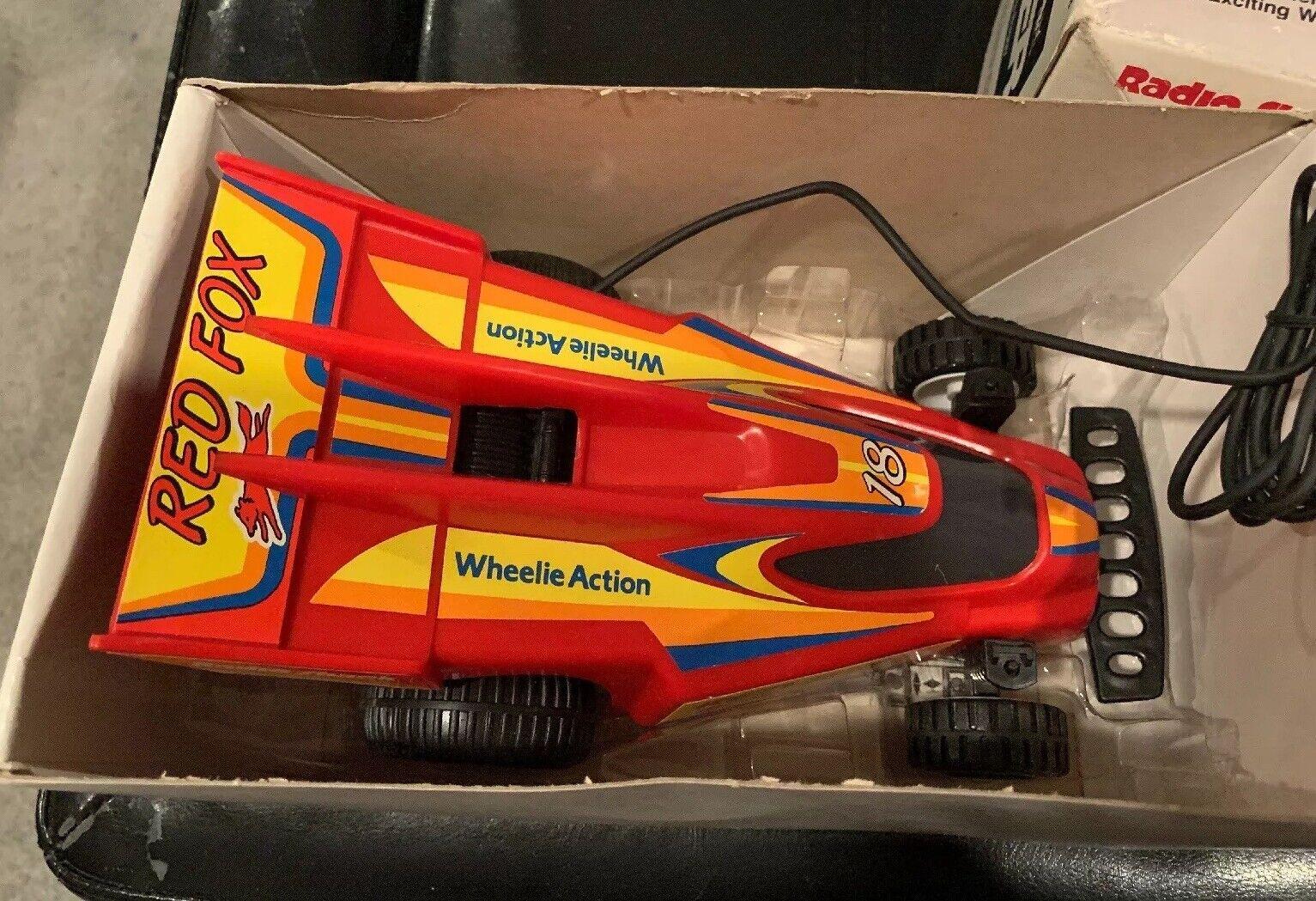 Vintage Radio Shack con cable controlados Rojo Fox Racer. Núms. 60-2308. envío gratuito.