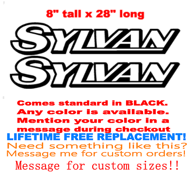 """YOUR COLOR CHOICE. MARINE GRADE PAIR OF 8/"""" X 28/"""" Hewes bayfisher BOAT DECALS"""