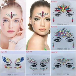 3dd5e8f0356 Mermaid Face Gems Festival Jewels Crystals Bindi Rainbow Tears ...