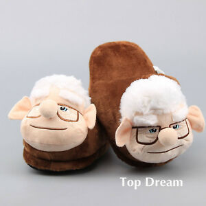 80fc51b40ed Carl Plush Slippers from Movie UP Fredricksen Russell Friend Indoor ...