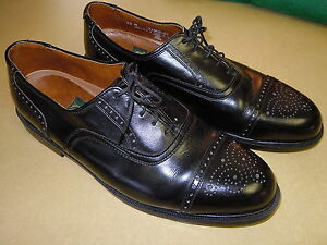 Quot Nunn Bush Quot Black Leather Perforated Cap Toe Oxford