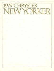 1979 Chrysler Fifth Avenue /& New Yorker Sales Brochure