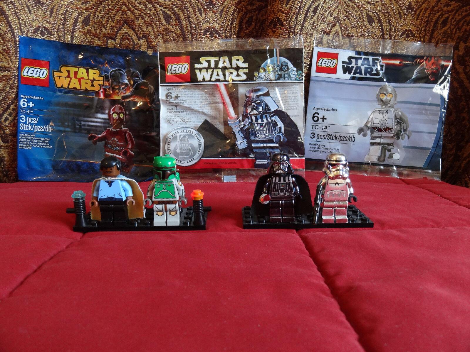 Lego Star Wars 10123 Cloud City Boba Fett Chrome Darth Vader Lando Calrissian