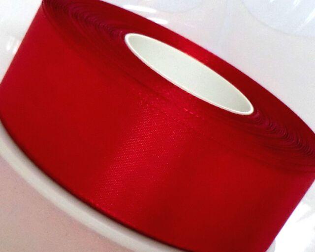 1m/0,22€ Schleifenband 50m x 40mm ROT Dekoband Weihnachtsband WEIHNACHTEN