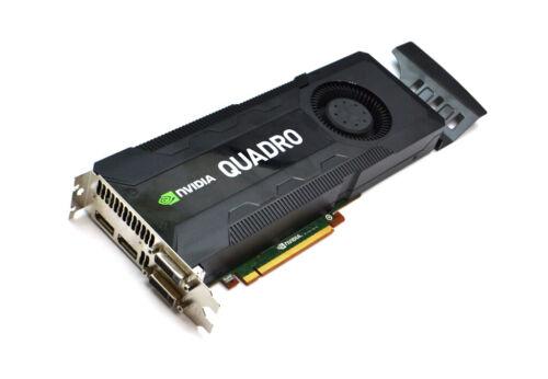 NVIDIA QUADRO K5000 4GB DVI-D DVI-I 2XDP PCI-E GRAPHICS VIDEO CARD W// TRAY RCFKT