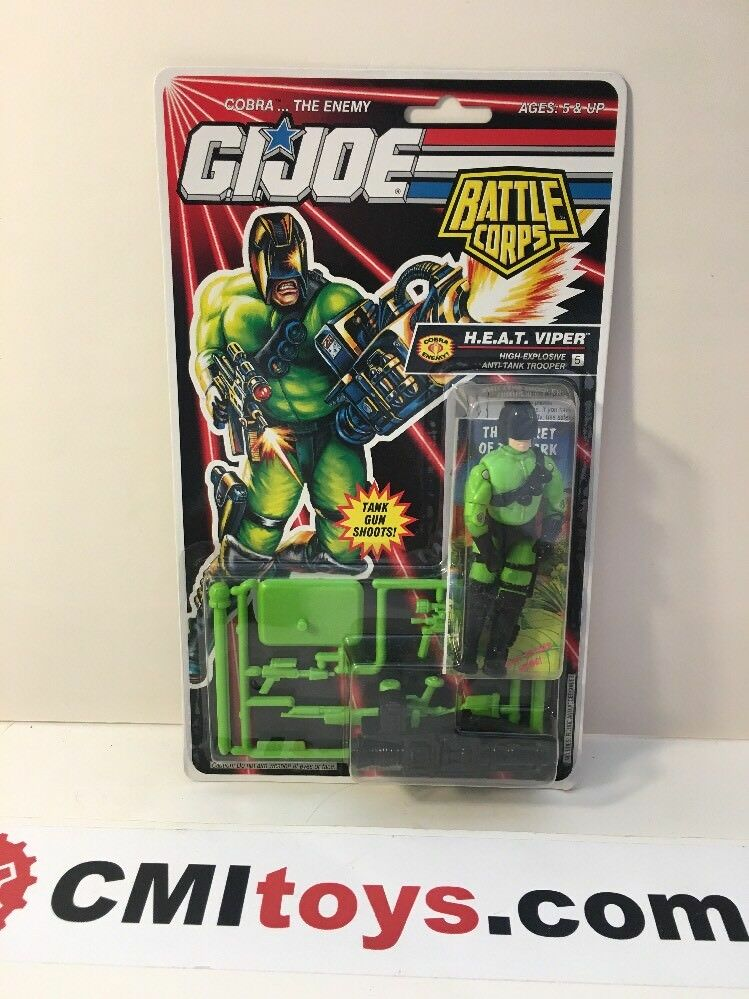 1992 Hasbro G.I. Joe ARAH Battle Corps Heat Viper V2 H.E.A.T. New Carded Figure