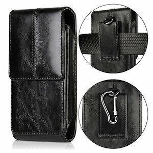 Mens Leather Pouch Case Cover Belt Clip Holster Waist Bag For iPhone 8 7 6s Plus
