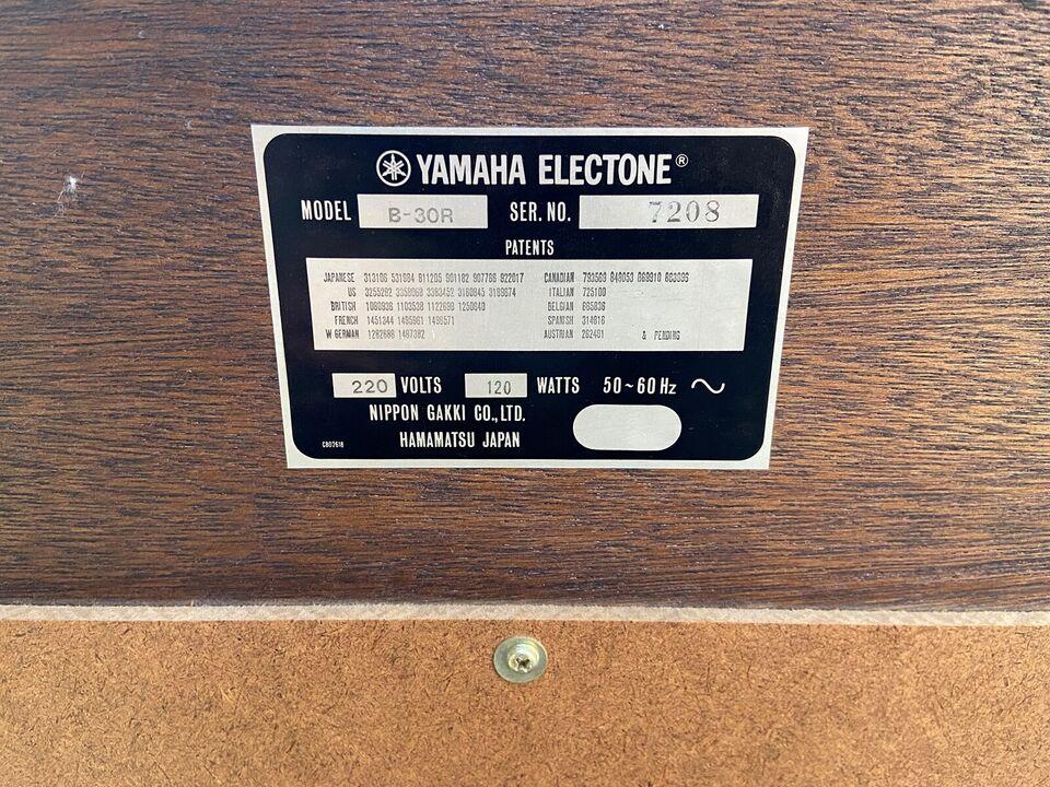 Hammondorgel, YAMAHA B-30R