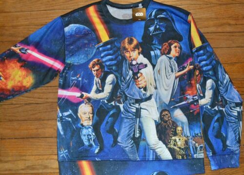 Star Wars Long Light Weight Sweatshirt Character Top Official Licensed Luke Leia