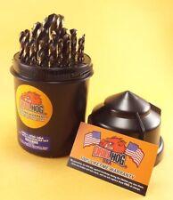 Drill Hog® 29 Pc Drill Bit Set Index Molybdenum M7 Round Case Lifetime Warranty