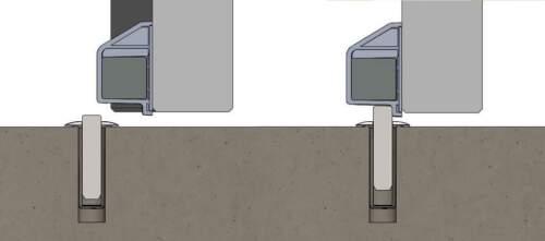 FANTOM FACE-MOUNT Door Stop topper CHROME PLATED Magnetic Original Kit SOLUTION