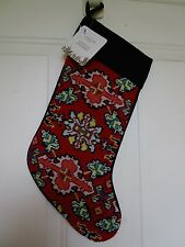 NEEDLEPOINT SOUTHWESTERN DESIGNS DILLARD'S DEPT STORE CHRISTMAS STOCKING NWT