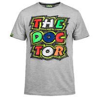 100% Cotton Valentino Rossi VR46 The Doctor Moto GP T-shirt Gray 2017 Free Ship