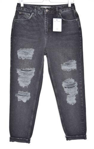 stretti 10 Jeans affusolati vita a misura Mom alta neri vita W29 Topshop bassa L30 a n7wqgn4X