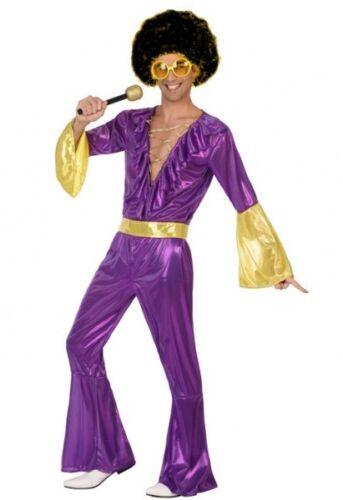 Déguisement Homme DISCO Violet XS//S Costume Année 1980 NEUF Pas cher