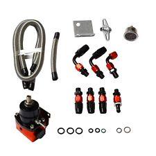 Universal Adjustable Fuel Pressure Regulator Oil 100psi Gauge AN 6 Fitting End