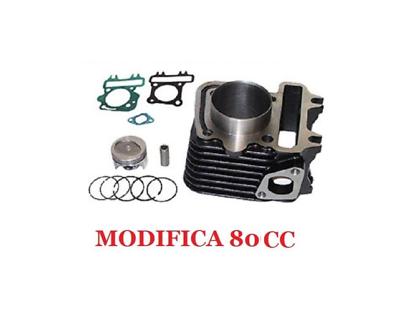 Unbranded 70cc Racing Gruppo Termico CARBURATORE Kit Testa per Aprilia Scarabeo 50 da 2006