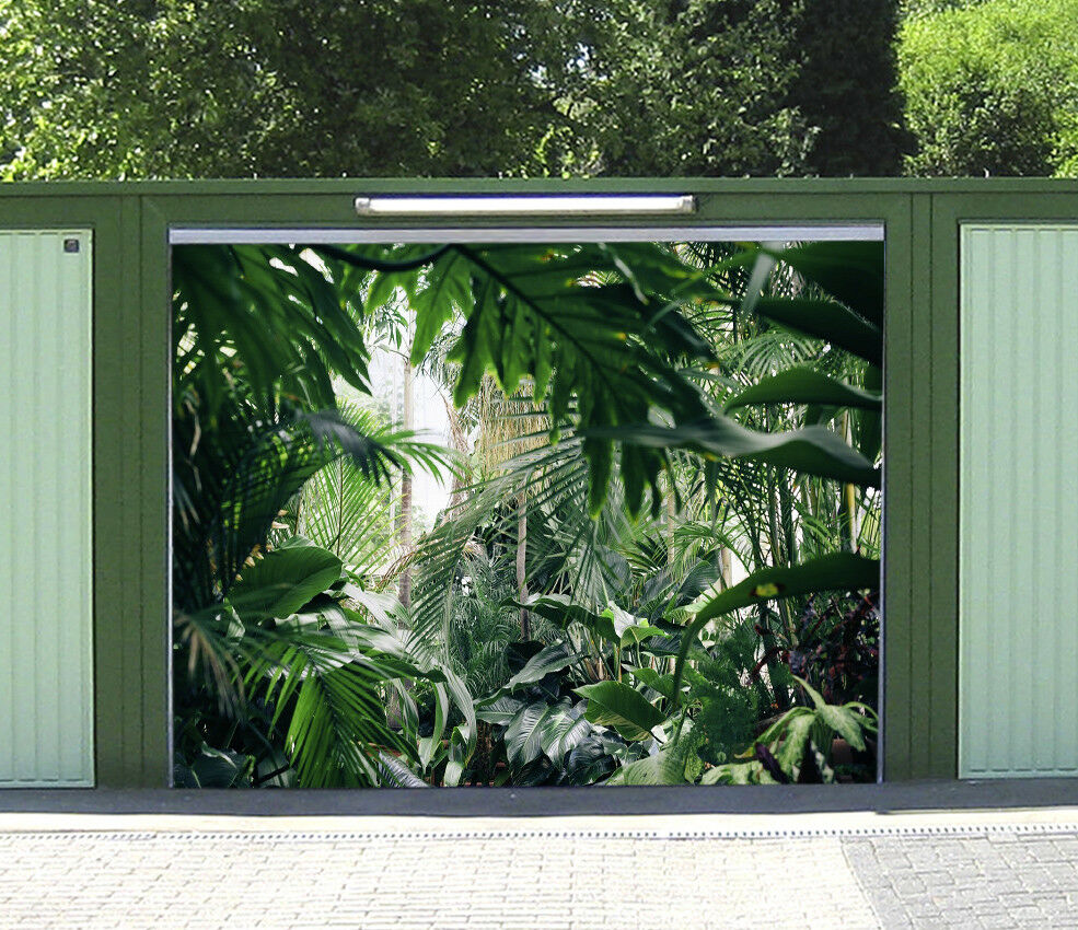 3D Green Plants 4 Garage Door Murals Wall Print Decal Wall AJ WALLPAPER AU Lemon
